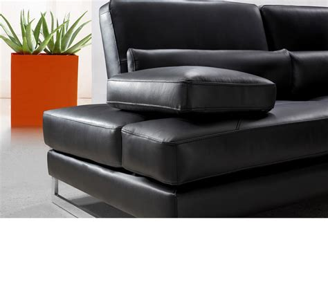 modern black leather sofa dreamfurniture modern black leather sectional sofa