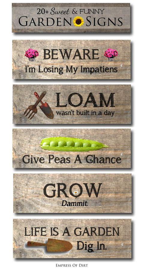 Garden Sign Ideas 20 Sweet Garden Sign Ideas