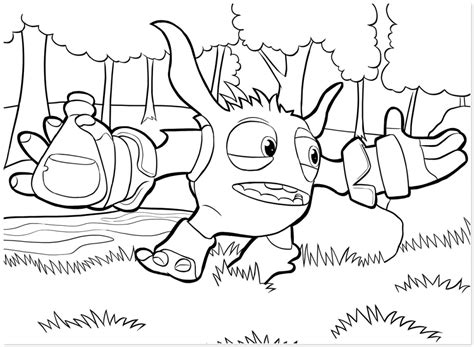 Skylanders Super Gulp Pop Fizz Coloring Pages Easy Color Alive Pages
