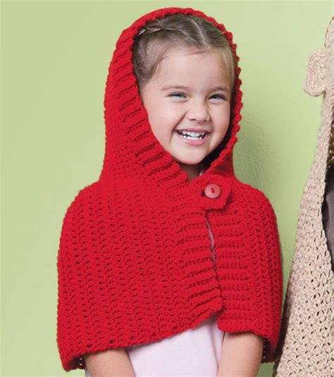free pattern red riding hood cape adorable red riding hood crochet cape joanns crafts