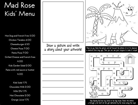 mad rose tavern menu