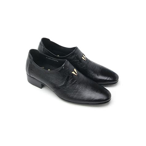 mens pointed toe wrinkles loafers dress shoes