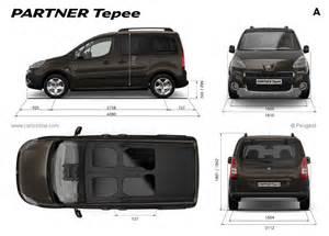 Peugeot Tepee Dimensions Peugeot Partner Tepee Restylage 2012 Fiche Technique