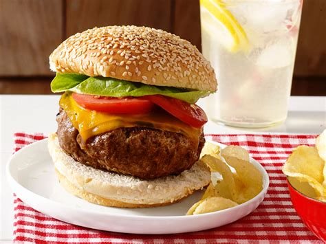 cheeseburger recipe perfect beef burgers recipe food network kitchen food