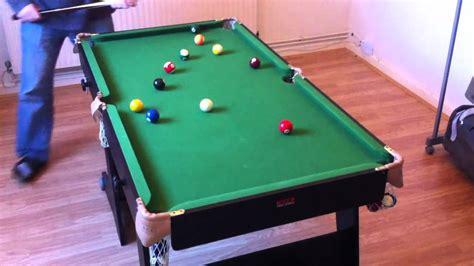 5ft Folding Pool Table Snooker Table Folding 5ft Bce Black