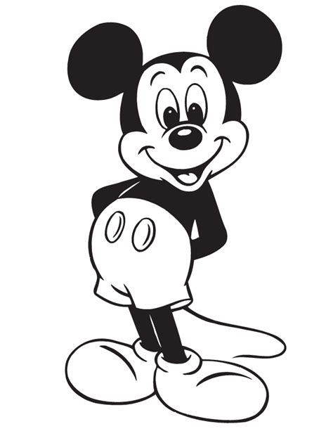 free mickey mouse ear outline coloring pages