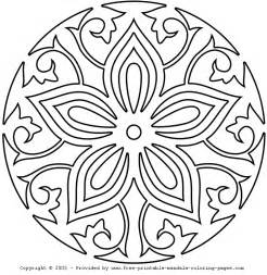 coloring mandalas free mandala coloring pages for adults coloring home