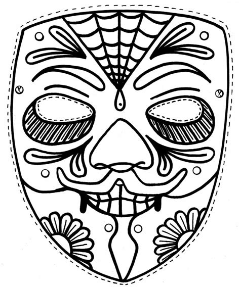 african mask coloring page az coloring pages
