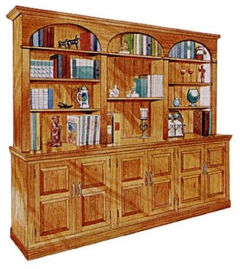 project plans sectional wall unit bookcase woodworking plan