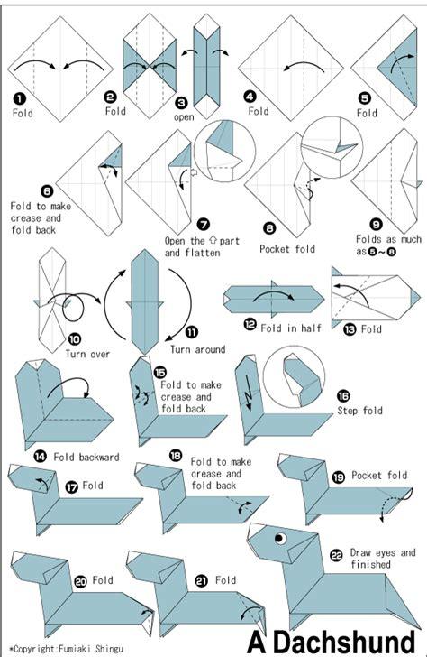 Origami Weiner - diy origami dachshund tutorial origami 101