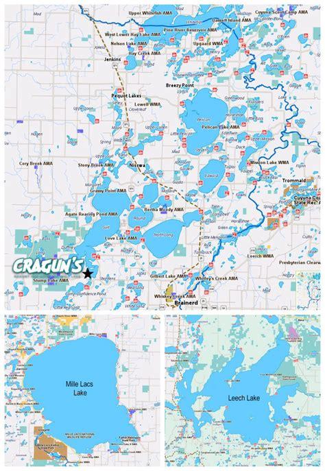lakes map brainerd mn lakes map details cragun s resort