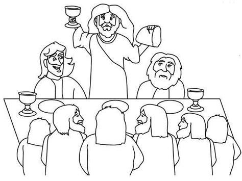 download last supper coloring pages