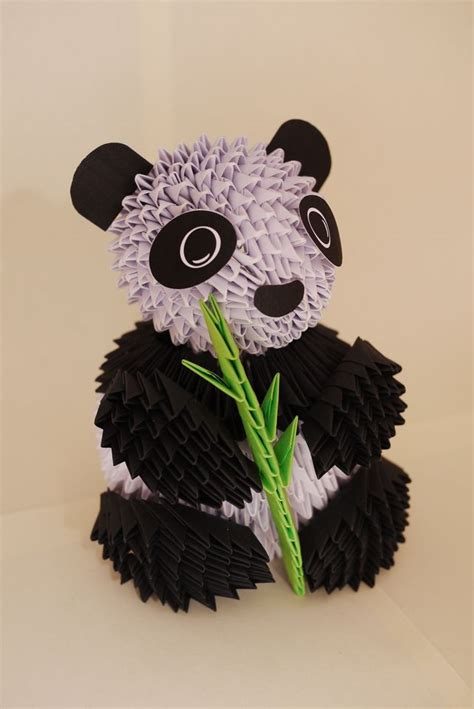 Panda Origami 3d - 25 best ideas about 3d origami on modular