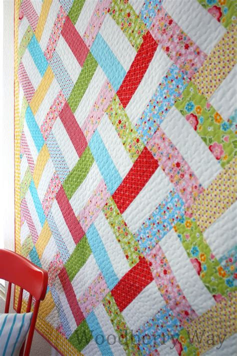 Easy Patchwork Patterns - quilt story easy quilt pattern from woodberryway