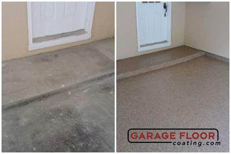 garage floor paint before after