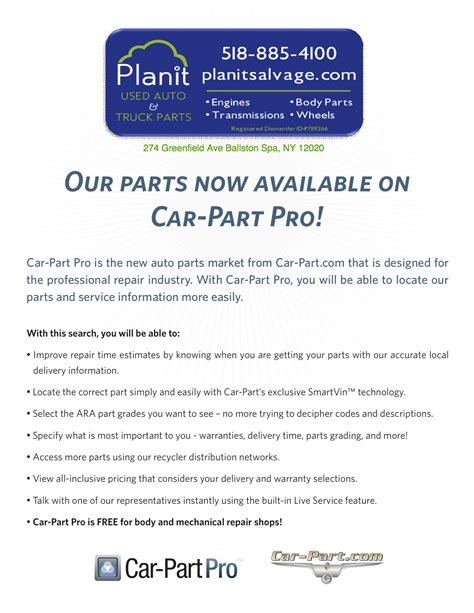 Pro Auto Parts by Planit Salvage