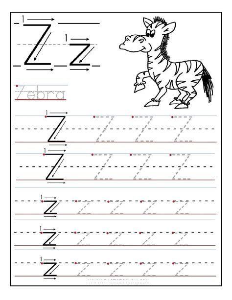 printable handwriting worksheets a z letter z worksheet for kids loving printable