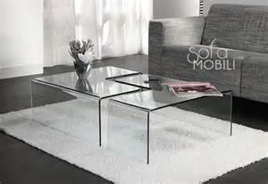 table basse en verre design italien table basse lot de 2 design en verre tremp 233
