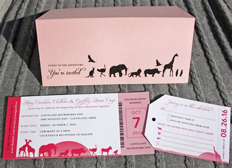 Zoo Themed Wedding Invitations by Zoo Animals Archives Emdotzee Designs