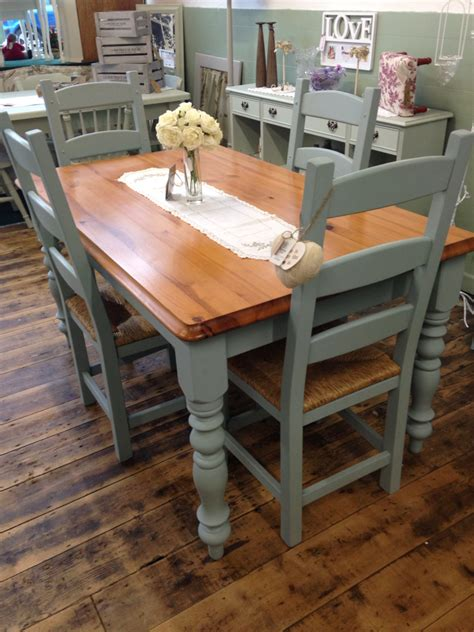 Kitchen Tables And More Gorgeous Kitchen Table And Chair Set Transformed By Aspirations Uk Using Frenchic Furniture