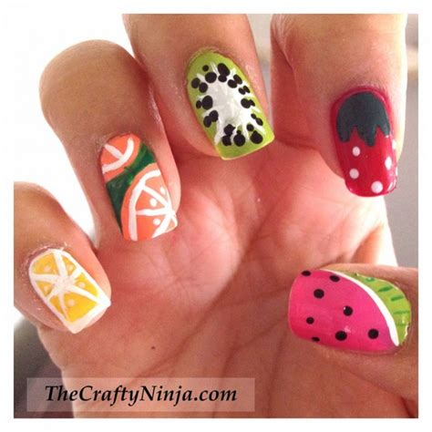 lemon nail art tutorial 19 interesting fruit nail designs