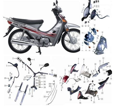Spare Part Honda Wave 100 honda xl 600 parts list