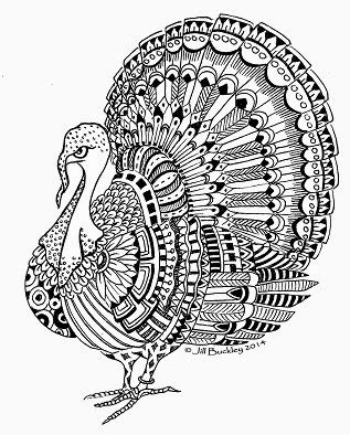 turkey mandala coloring pages the quilt rat doodle