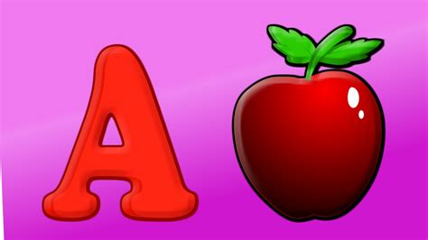 A For phonics song alphabet songs for children a for apple