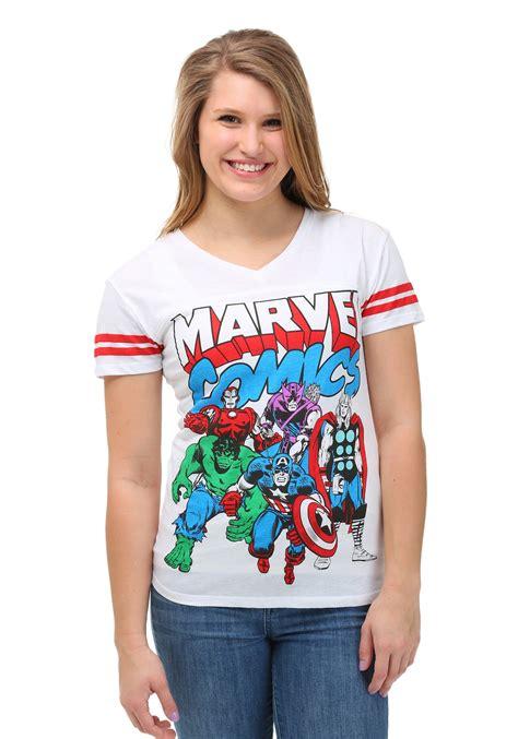 Tshirt Junior Kry marvel comics avenger soccer v neck juniors t shirt