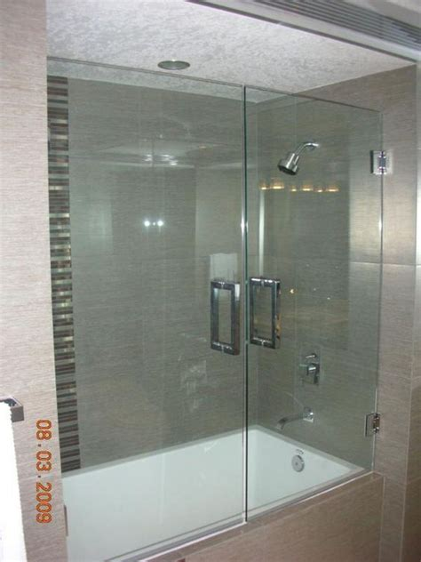 Glass Door Tub Shower Doors Doors And Tub Enclosures On