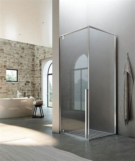 Shower And Bath Enclosures shower booth pivot system for modern bathroom idfdesign