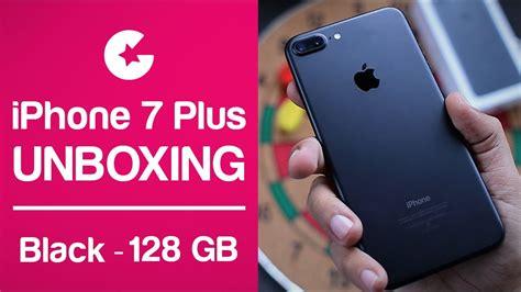 apple iphone 7 plus unboxing impression matte black 128gb