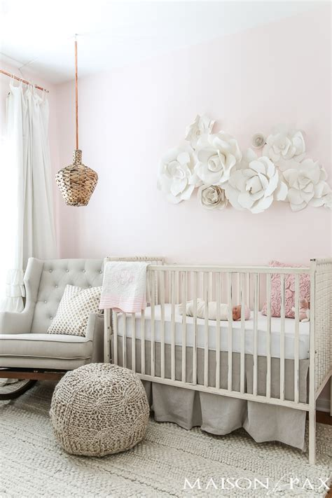 Decor For Nursery Rooms Blush Nursery With Neutral Textures Maison De Pax