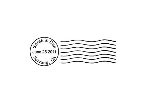 Wedding Clip Usa by Postmark Mail Custom Rubber St Cancellation Save The