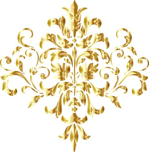 golden pattern png clipart golden damask design no background