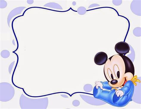 baby mickey mouse template mickey mouse photo baby shower invitation ideas free