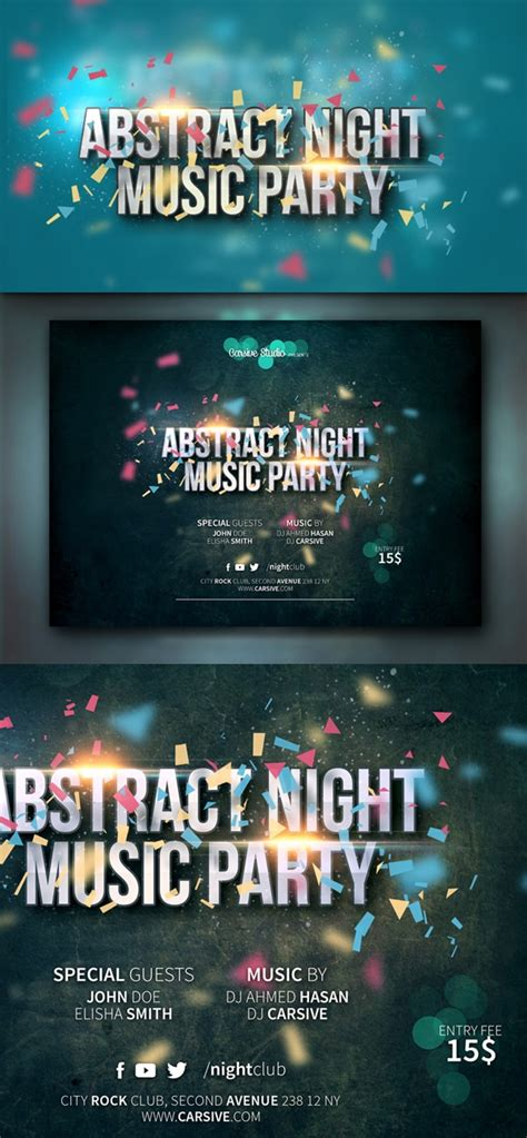 Free Flyer Templates Psd From 2014 187 Css Author Horizontal Flyer Template