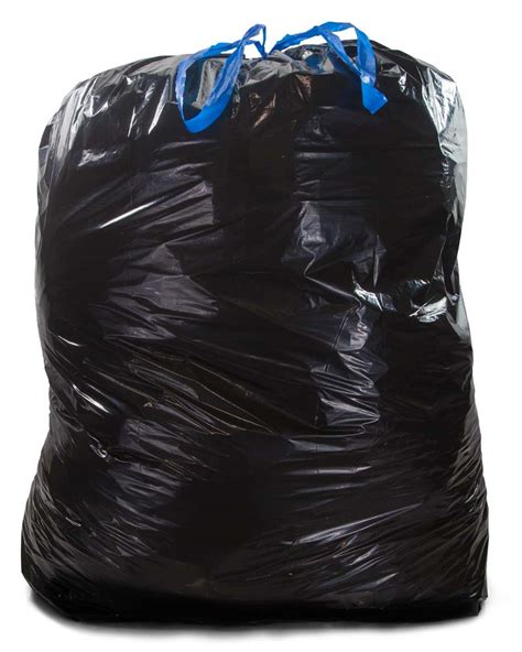 Tasjh Bag 2 44 gallon black drawstring trash bags 1 2 mil 50 cs