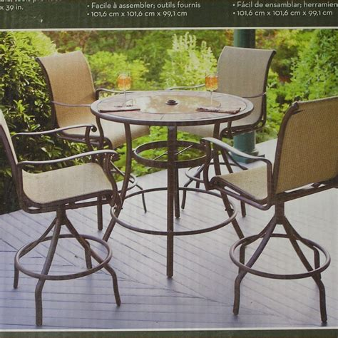 pub style table and chairs outdoor pub style patio furniture