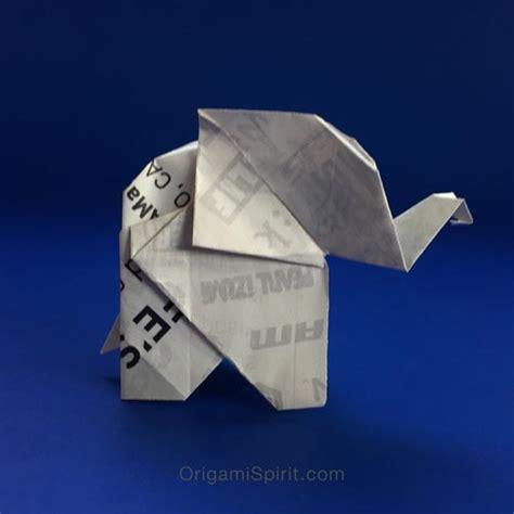 Origami Elephant Tutorial - make origami trees to celebrate world environment day