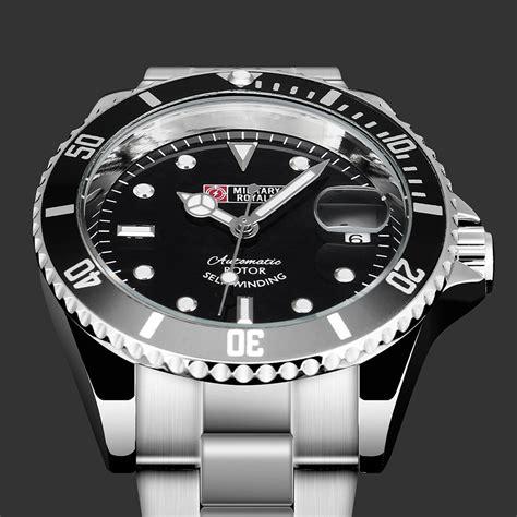Jam Tangan Pria Rolex Kulit Otomatic royale jam tangan automatic self winding pria mr163 black black jakartanotebook