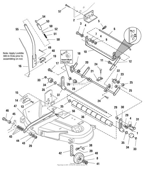 simplicity parts diagram simplicity 1693960 38 quot mower deck parts diagram for 38