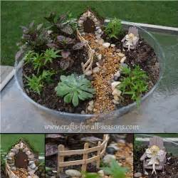 make a fairy garden from the furniture to the fairies