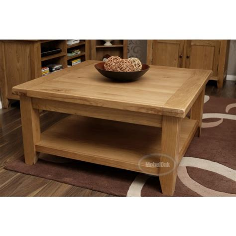 Vancoouver Rustic Oak Large Square Coffee Table Best Large Oak Coffee Tables