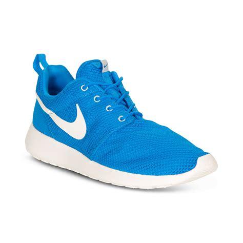 nike roshe run sneakers  blue  men blue herosail