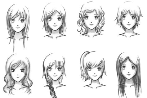 anime hairstyles for beginners how to draw anime hairstyles for girls step by step