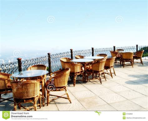 Outside Patio Chairs Outdoor Restaurant Seating Stock Photography Image 5752832
