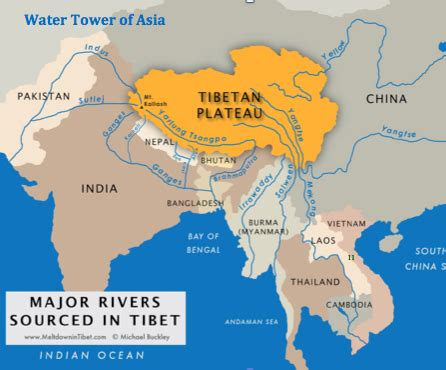 world map asia rivers rivers with himalayan origins are susceptible to
