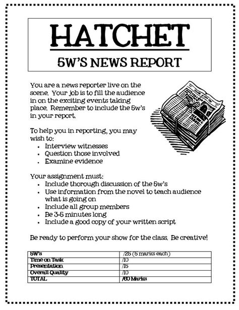 newspaper book report hatchet newspaper novels and school