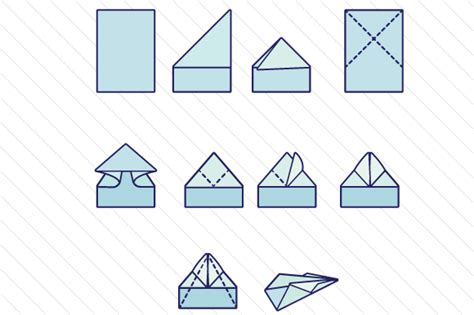 Steps For A Paper Airplane - steps to make a paper airplane svg cut file by creative